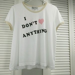 Wildfox Tops - NWT WILDFOX GRAPHIC TEE SIZE L I DON'T ❤ ANYTHING